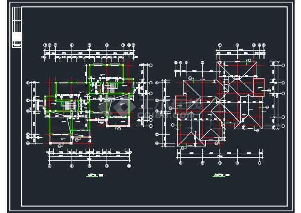 某地山体别墅全套建筑CAD施工图-图3