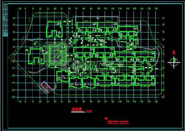 某小区景观绿化及车库总平面cad施工图-图2