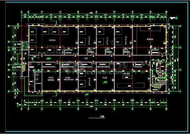 某四层生产稀有金属的厂房建筑设计方案图-图1