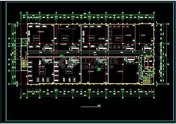 某四层生产稀有金属的厂房建筑设计方案图-图3