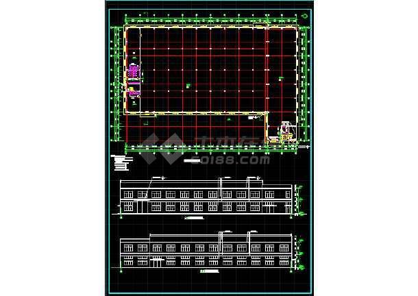 一套5609平米木工厂房建筑设计图纸-图1