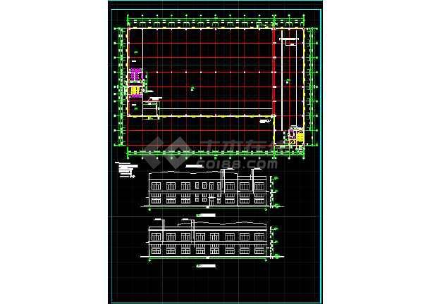 一套5609平米木工厂房建筑设计图纸-图2