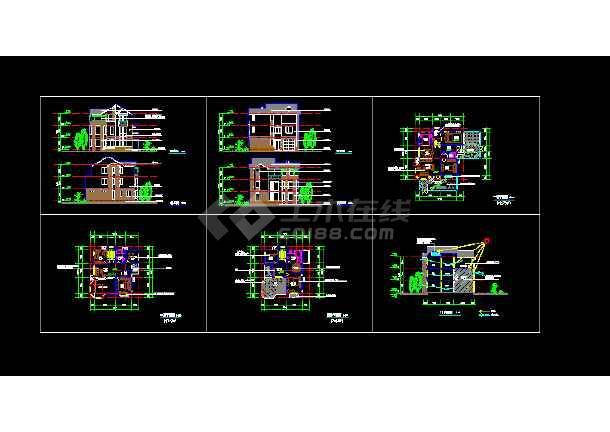 南京城镇居住建筑设计施工CAD方案图纸-图一