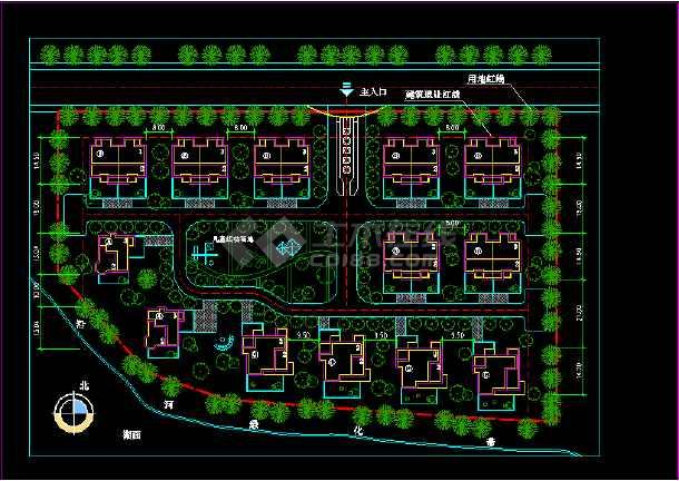 南京城镇居住建筑设计施工CAD方案图纸-图二