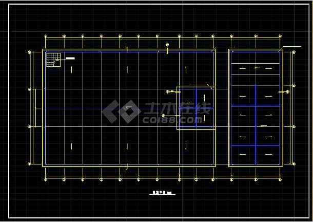 一层小型冷库全套建筑设计施工CAD图-图2