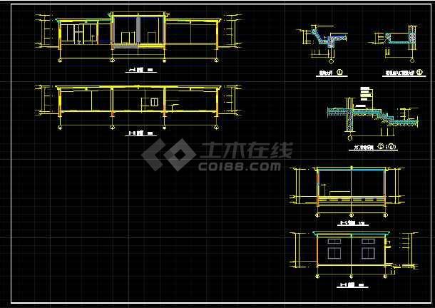 一层小型冷库全套建筑设计施工CAD图-图3