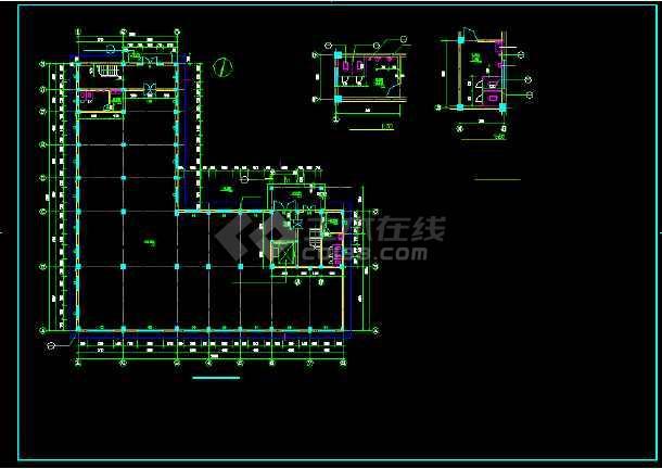 某四层车间翻建楼全套建筑设计方案图-图1