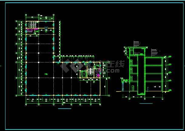 某四层车间翻建楼全套建筑设计方案图-图3