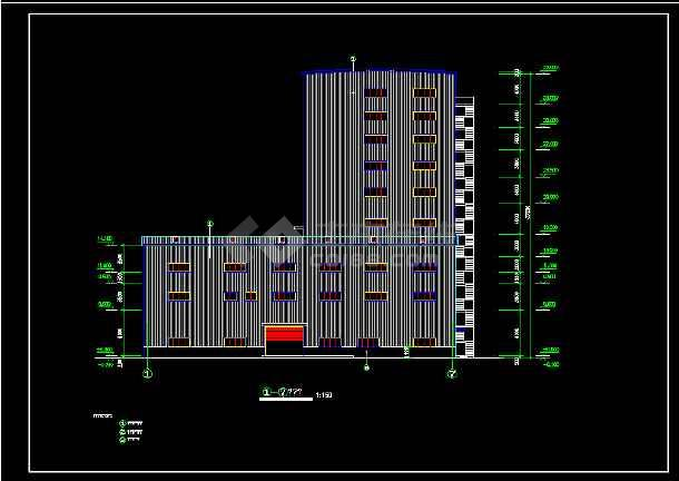 某十层厂车间楼全套建筑设计施工图-图3