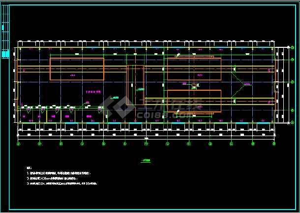 某一层钢结构丙类厂房建筑设计施工图-图1
