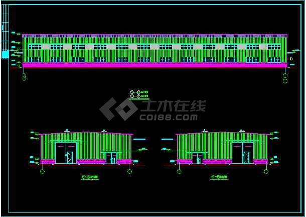 某一层钢结构丙类厂房建筑设计施工图-图3
