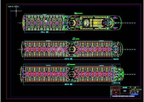 长江豪华游轮设计CAD图-图1