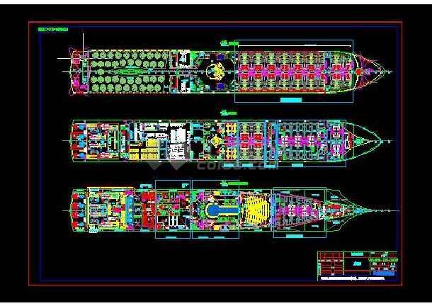 长江豪华游轮设计CAD图-图2
