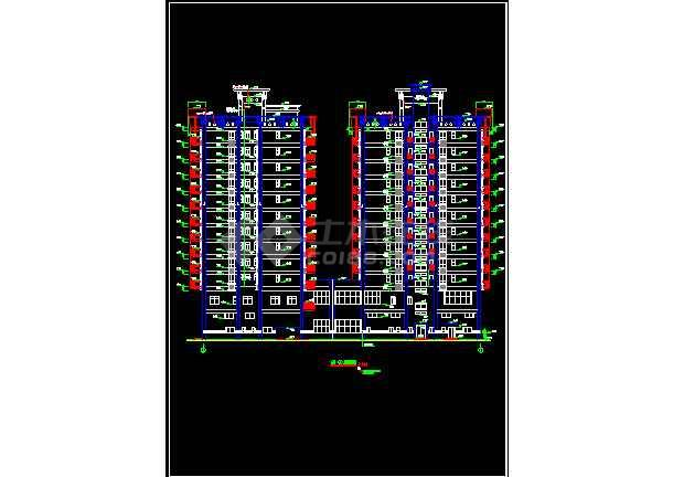 某商住楼酒店办公楼建筑CAD设计施工图纸-图2