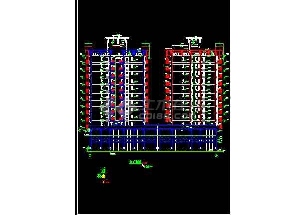 某商住楼酒店办公楼建筑CAD设计施工图纸-图3