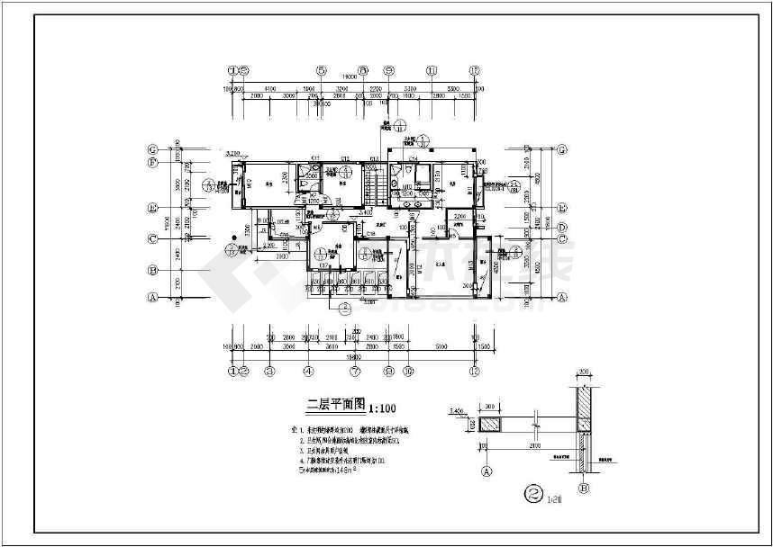 某地一套豪华现代别墅施工图(含设计说明)-图1