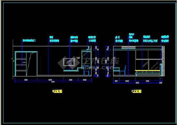 某户型样板房装饰工程设计CAD图纸-图1