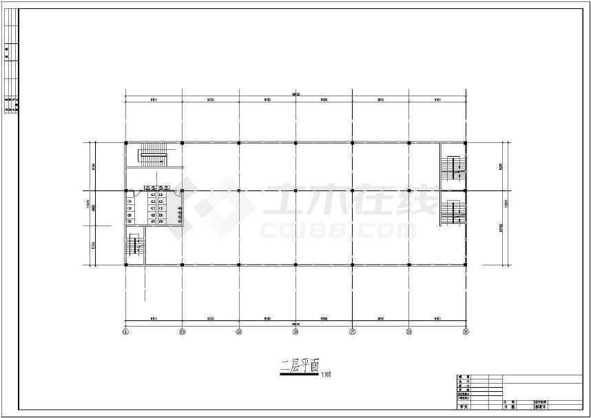 某地大型招待所建筑施工图(共10张)-图2