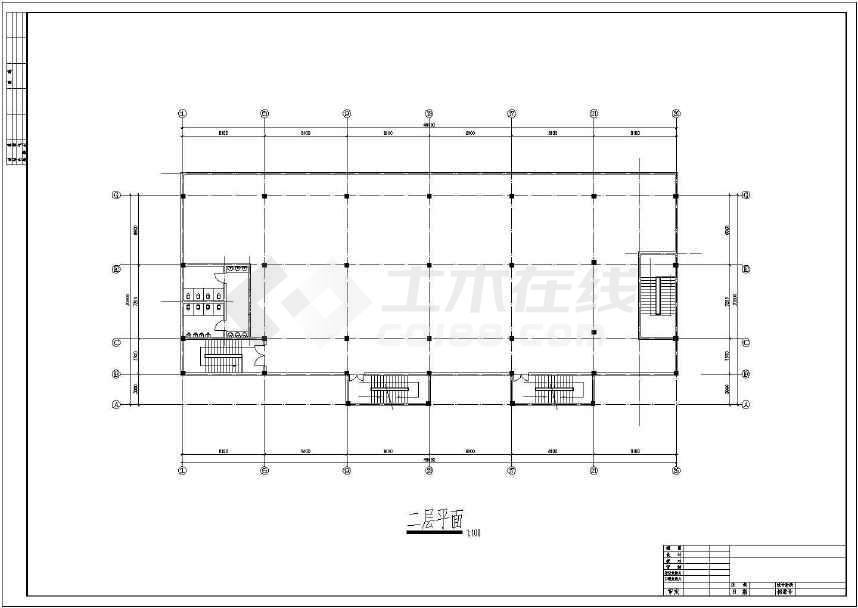 某地大型招待所建筑施工图(共10张)-图3