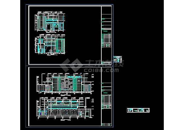 点击查看某酒店大堂立面装修设计CAD详图图纸第1张大图