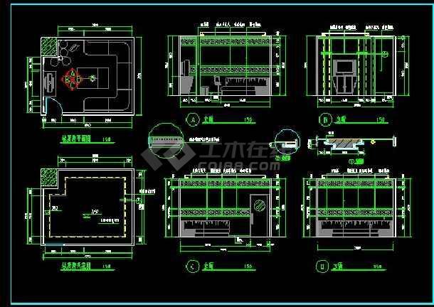 KTV包房装修设计CAD立面施工图-图2