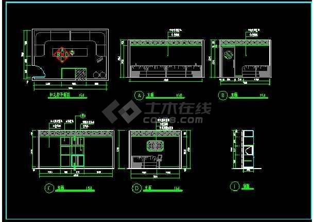 KTV包房装修设计CAD立面施工图-图3