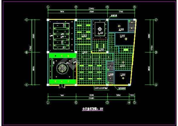 某办公室精装修装饰详情CAD图纸-图2