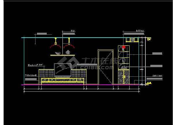 某客厅装修设计CAD详情全套图纸1-图1