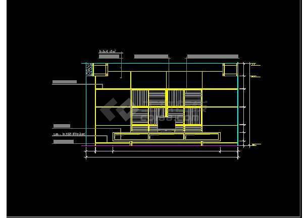 某客厅装修设计CAD详情全套图纸1-图2