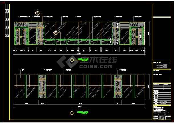 120平米阅览室装修详设计CAD详情图-图1