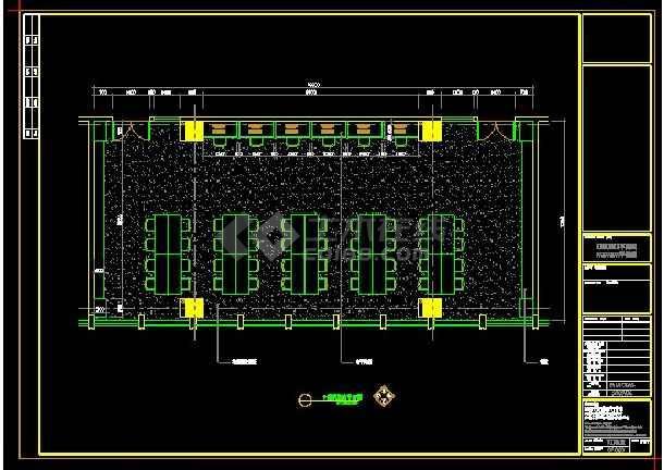 120平米阅览室装修详设计CAD详情图-图3