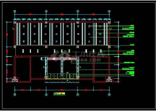 某办公楼全套装修设计CAD详情图纸-图1