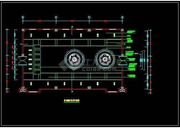 某办公楼全套装修设计CAD详情图纸-图3