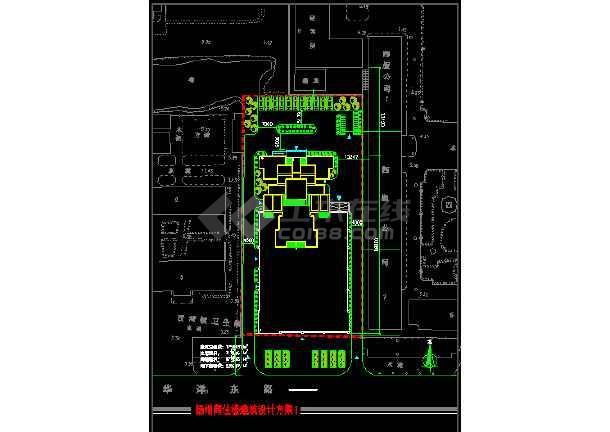 某商住楼建筑CAD设计方案图纸(带效果图)-图3