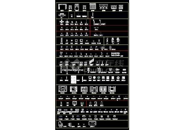 某CAD建筑材质素材总图详情图纸-图2