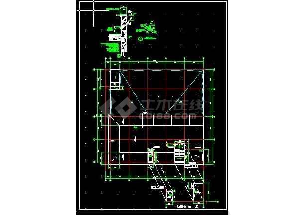 安达综合楼建筑施工cad设计方案图纸-图2