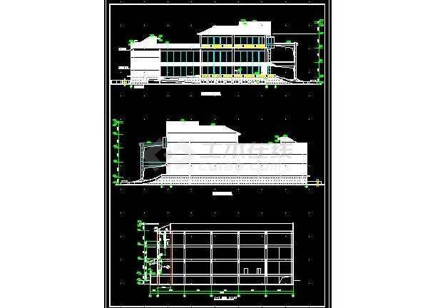安达综合楼建筑施工cad设计方案图纸-图3