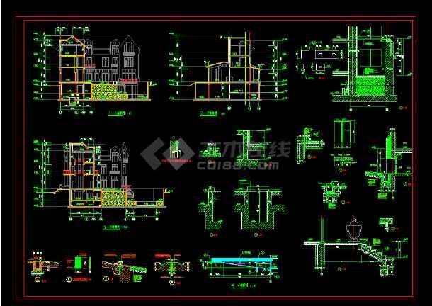 某市某英式别墅石材cad整套施工图-图1