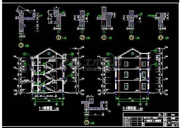 某市办公楼cad平面装修施工图纸-图2