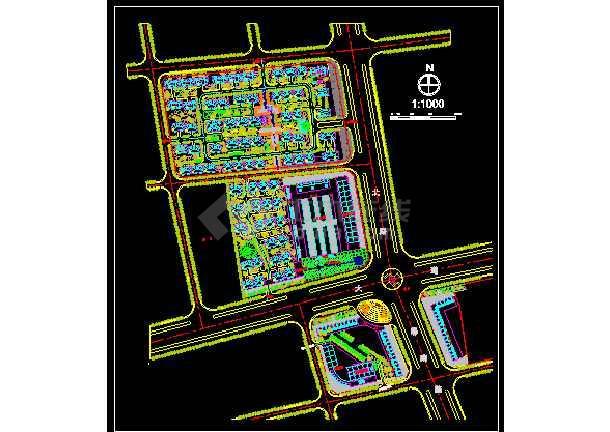 某市居住区详细规划建筑CAD设计施工图-图1