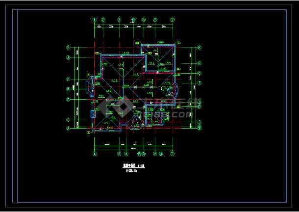 某市宾馆别墅cad设计全套施工图-图2