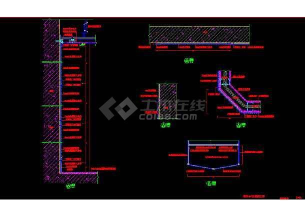 某服务台详细设计cad用料施工设计方案图纸-图1