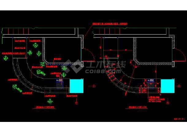某服务台详细设计cad用料施工设计方案图纸-图2
