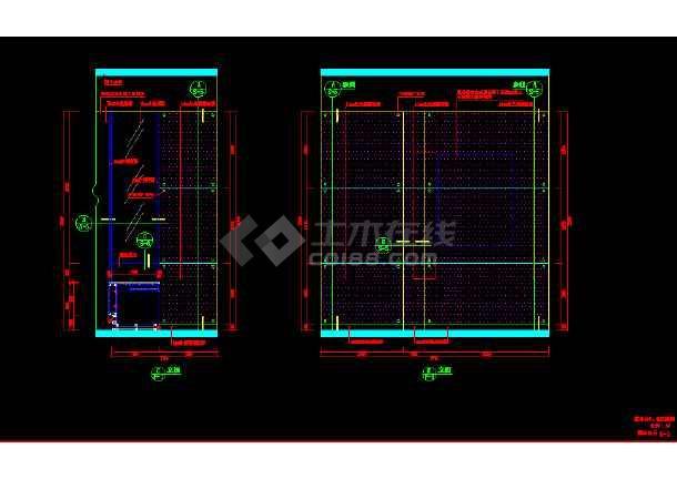 某服务台详细设计cad用料施工设计方案图纸-图3