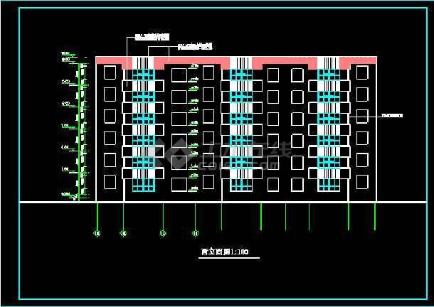 多层住宅建筑施工设计CAD全套方案图纸-图1