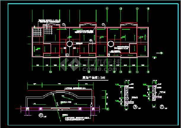 多层住宅建筑施工设计CAD全套方案图纸-图2