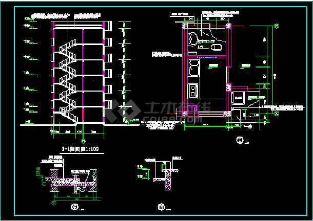 多层住宅建筑施工设计CAD全套方案图纸-图3