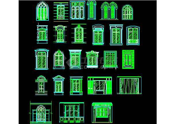欧式传统建筑元素室内装修素材CAD图-图1