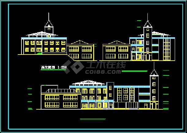 某豪华会所建筑设计施工CAD方案图-图1