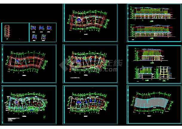 点击查看某市会所建筑CAD设计施工平面图纸第1张大图